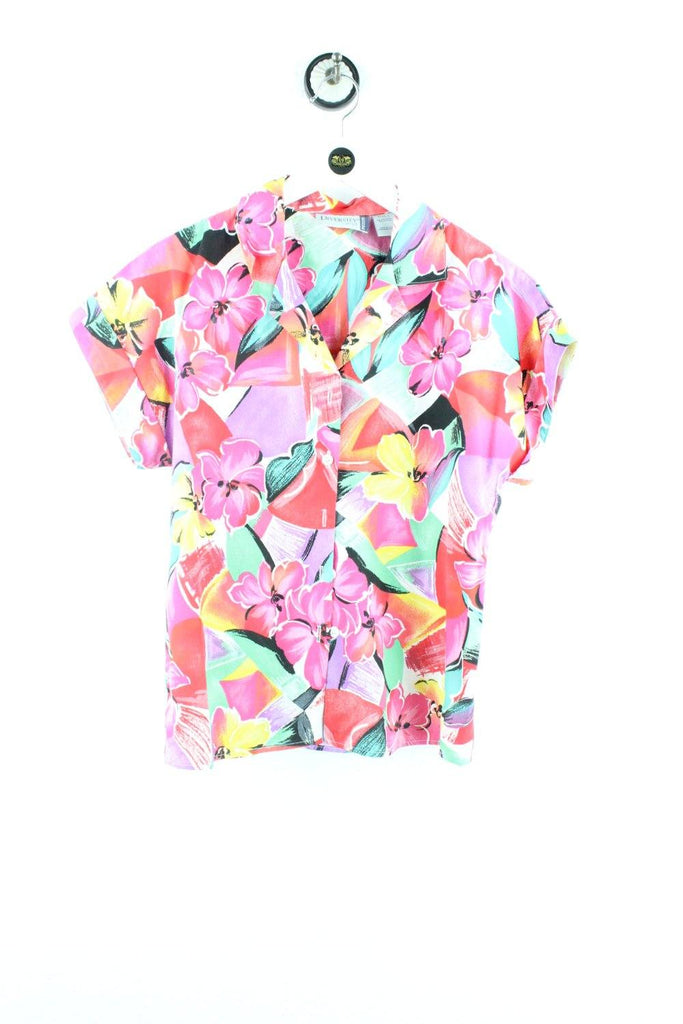 Vintage Crazy Colourful Flower Party Shirt ( S ) - Vintage & Rags