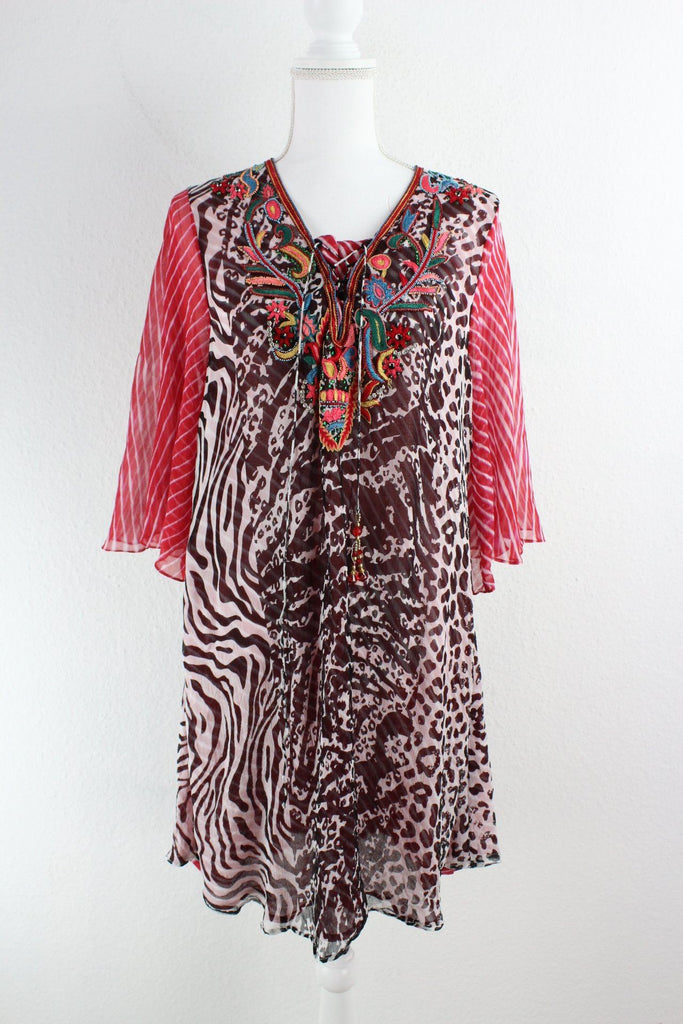 Vintage Exotic Dress (M) Vintage & Rags