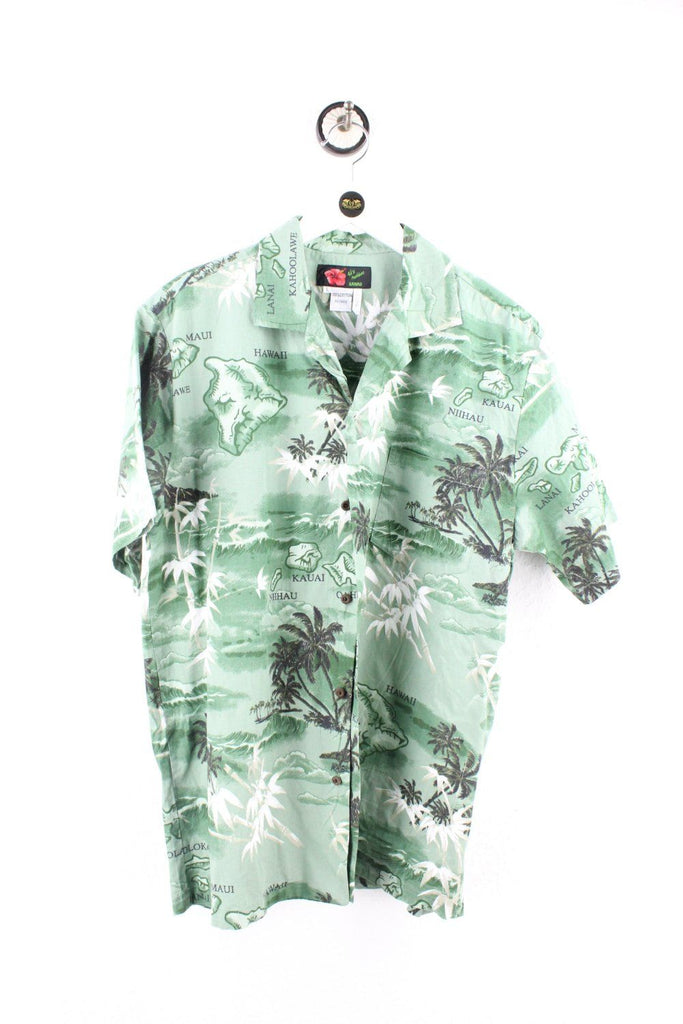 Vintage Green Hawaii Shirt ( L ) - Vintage & Rags