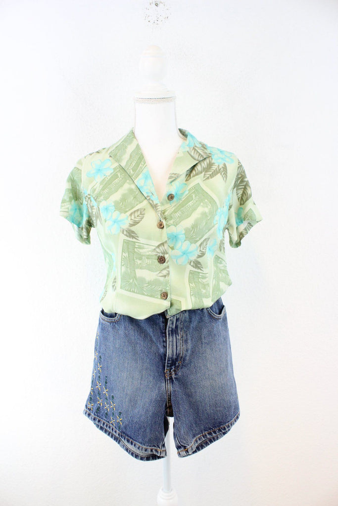 Vintage Green Hawaii Shirt (XS) Vintage & Rags