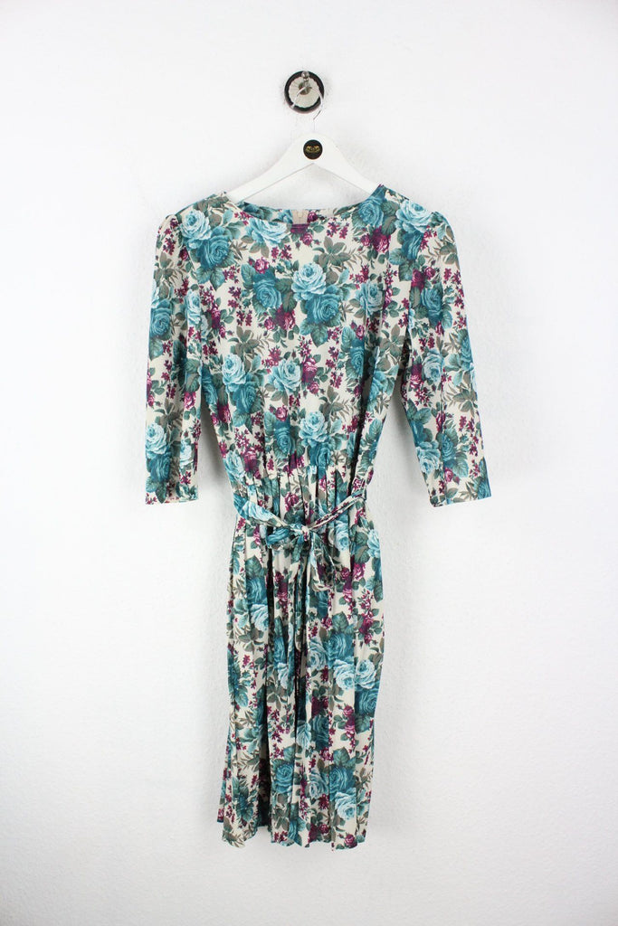 Vintage Looks Blue Flower Dress (M) Vintage & Rags