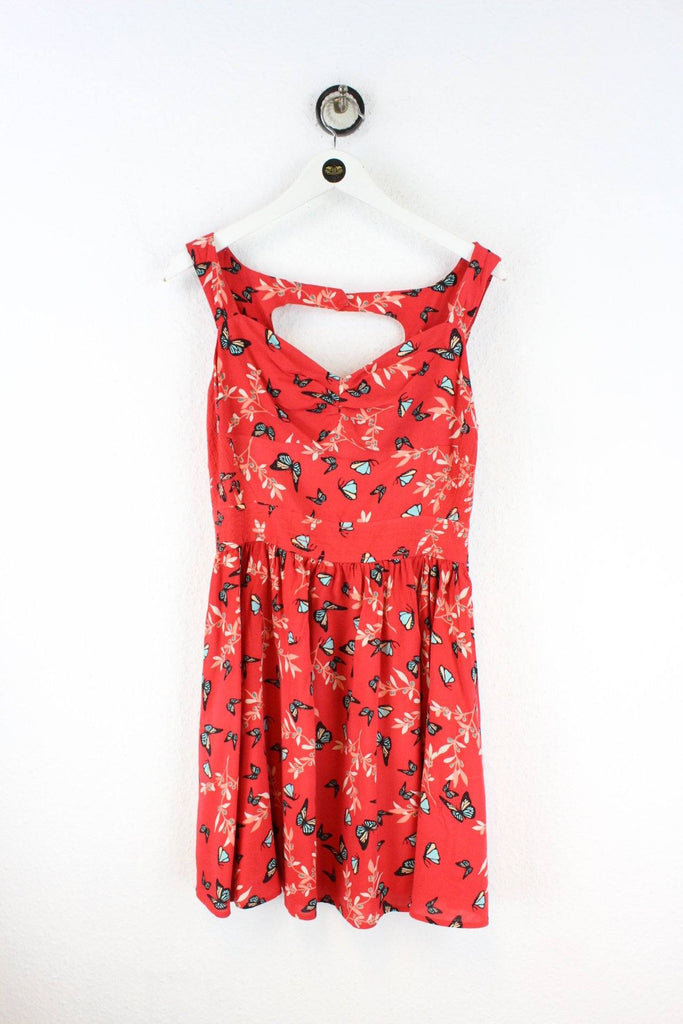 Vintage Red Butterfly Dress (M) Vintage & Rags
