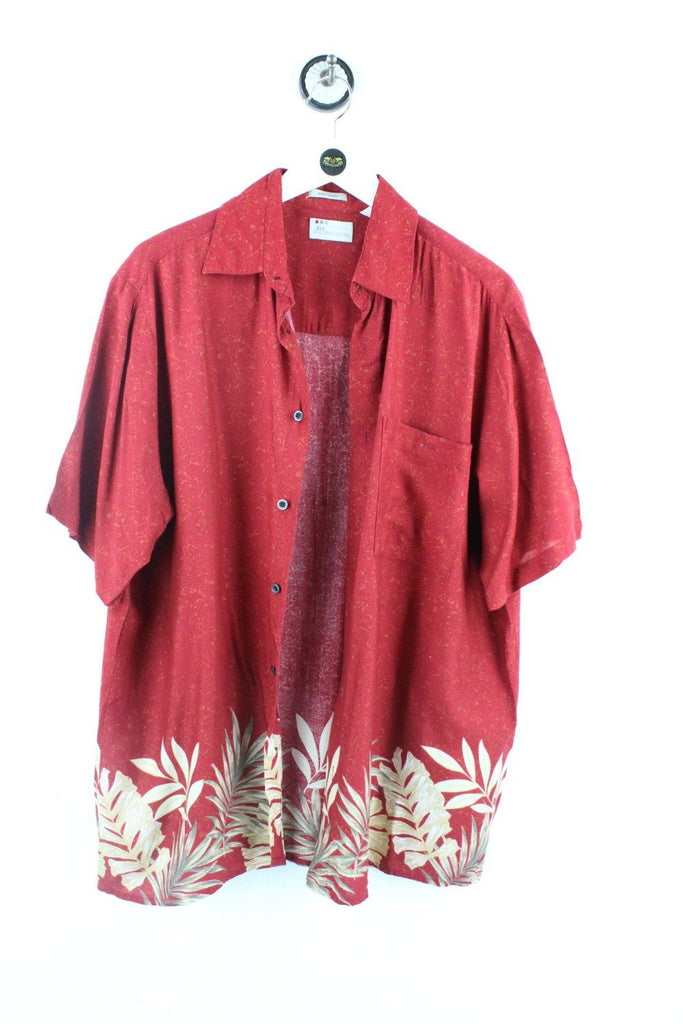 Vintage Red Leaves Party Shirt ( M ) Vintage & Rags Online