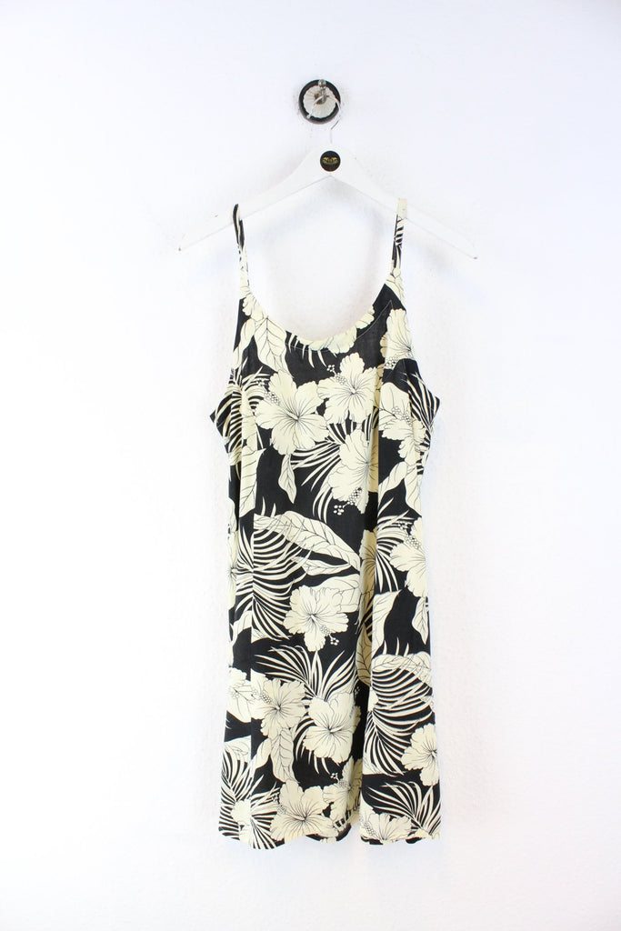 Vintage Tiki palm Flower Dress (L) Vintage & Rags
