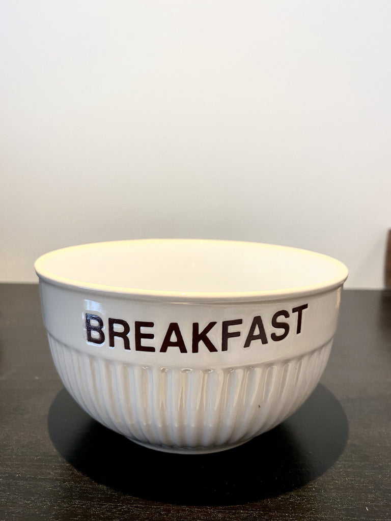 Vintage White Breakfast Bowl Vintage & Rags