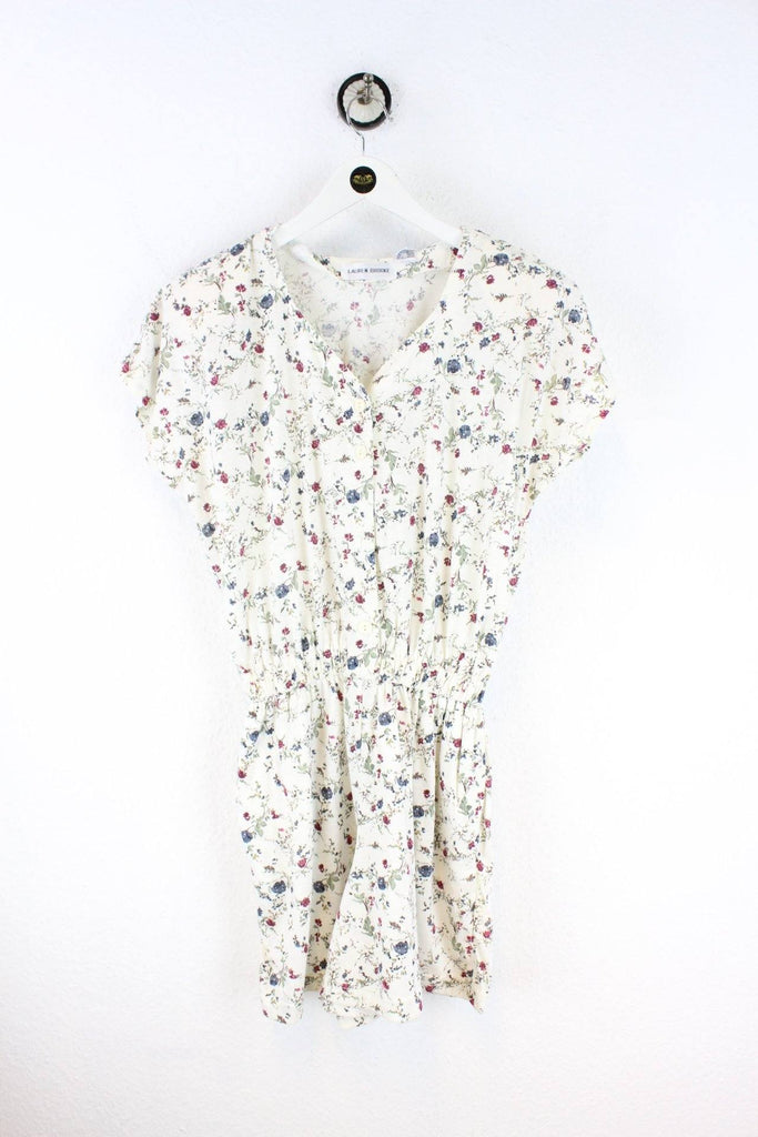 Vintage White Flower Dress (M) Vintage & Rags
