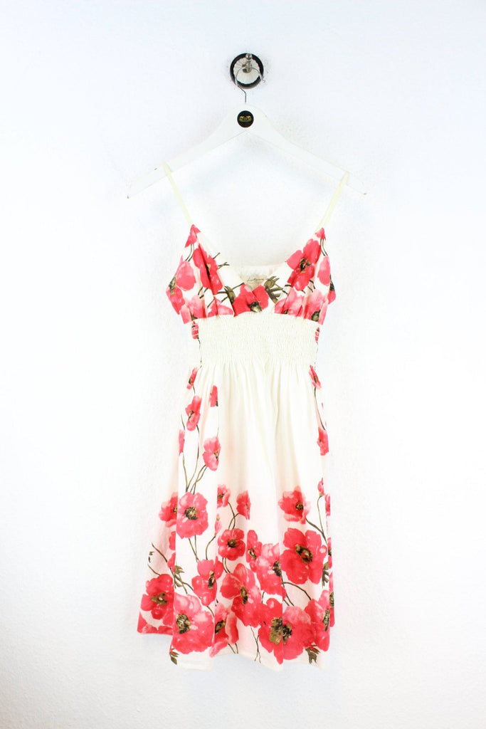 Vintage White Flower Dress (XS) Vintage & Rags