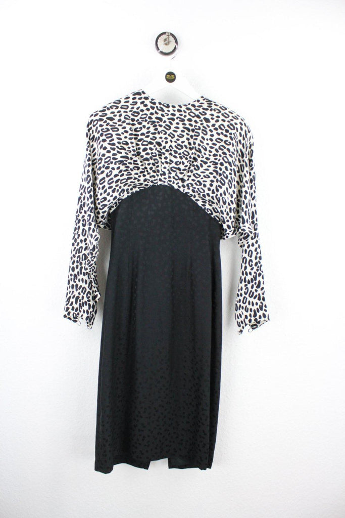 Vintage White Leopard Patterns Dress ( XS ) - Vintage & Rags