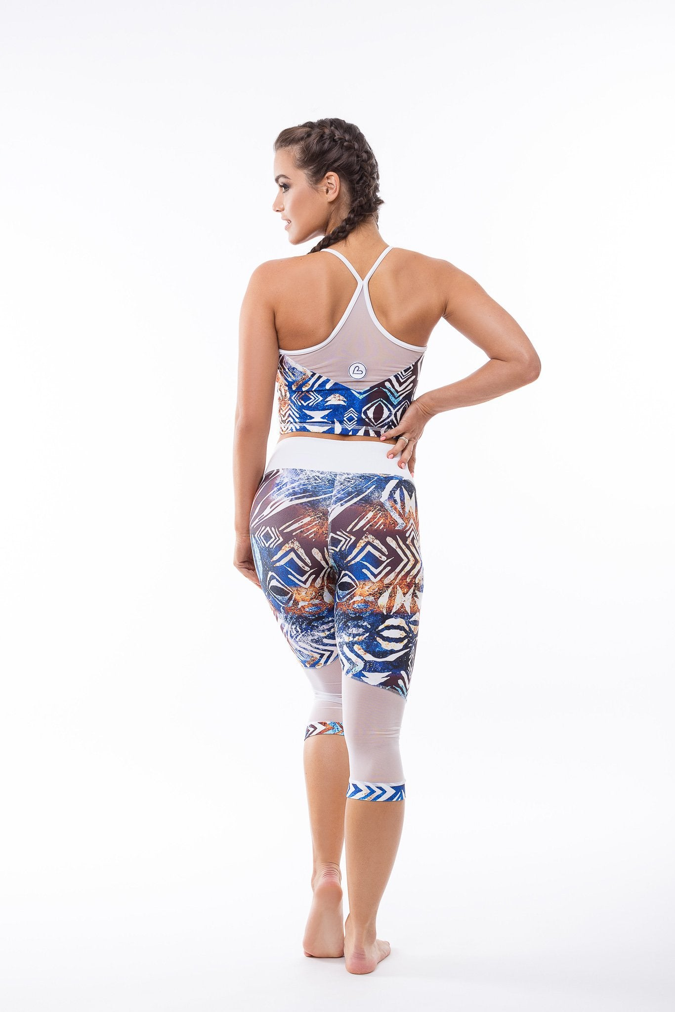 Africa Cropped Workout Leggings - BarbellPrincessUsa