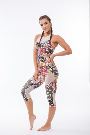 Africa Workout Cropped leggings, Crop, - Indi-Go Style, BarbellPrincess,