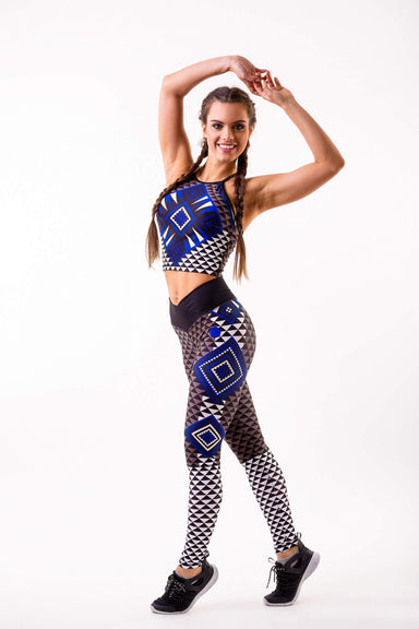 Aztec workout top - BarbellPrincessUsa