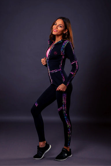 Chameleon tracksuit set zipped Sweatshirt+pants - BarbellPrincessUsa