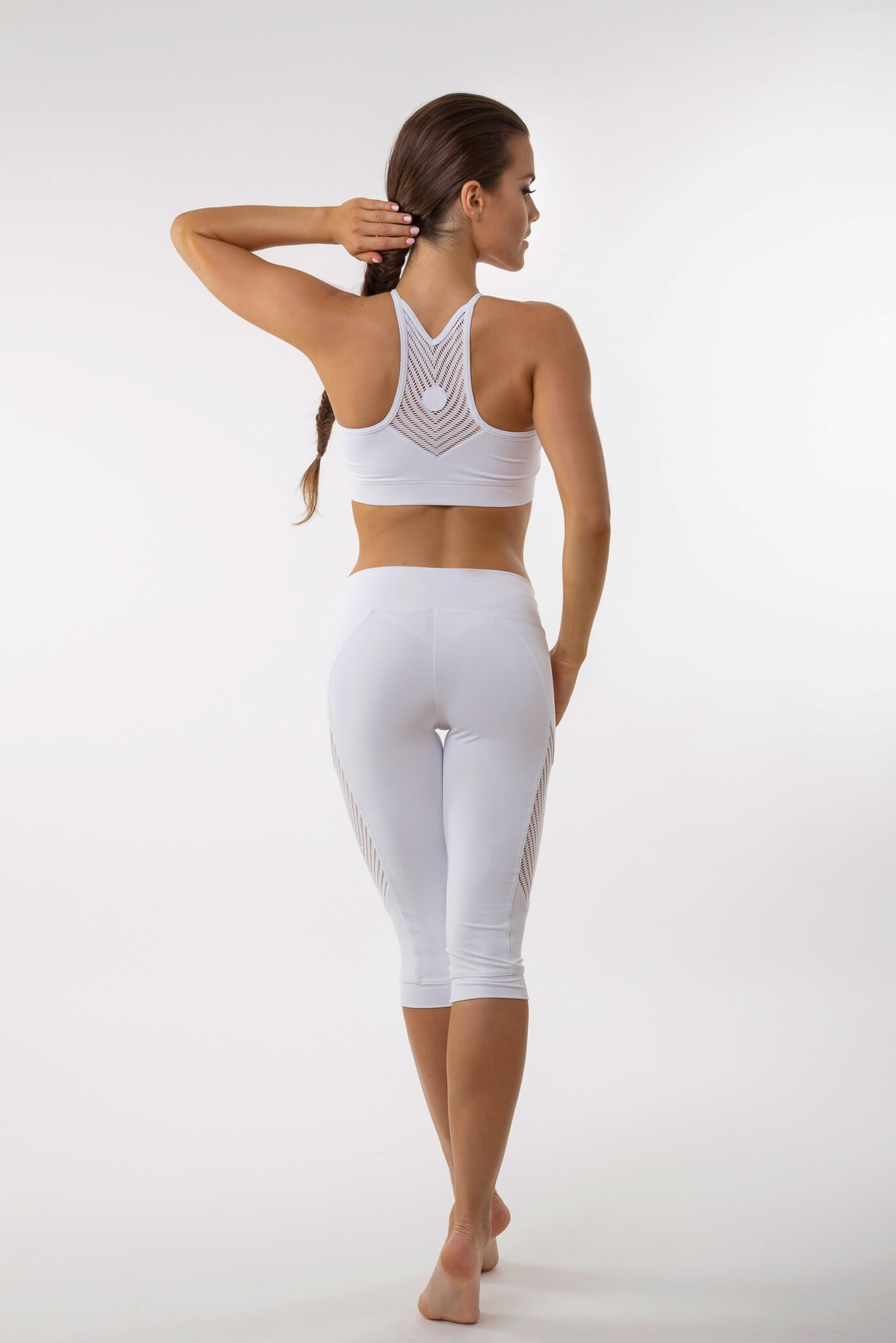 Fishbone crop yoga leggings - BarbellPrincessUsa