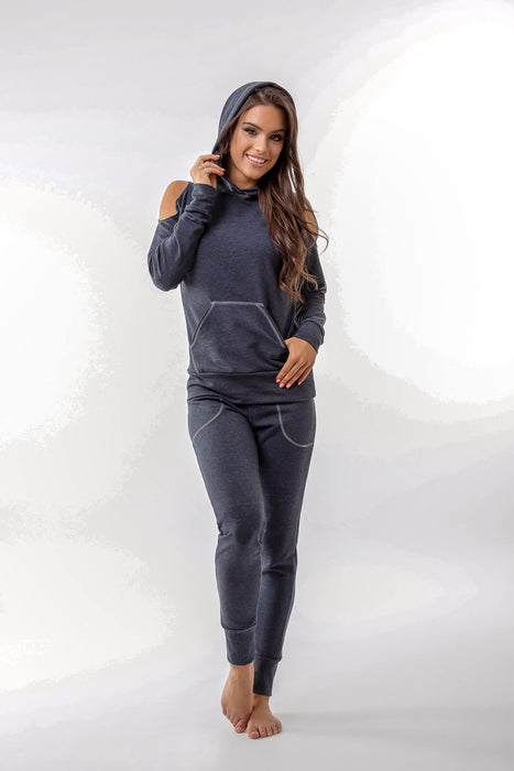 Holey jogging Suit set Hoodie+pants