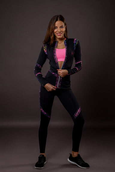 Chameleon zipped workout hoodie - BarbellPrincessUsa