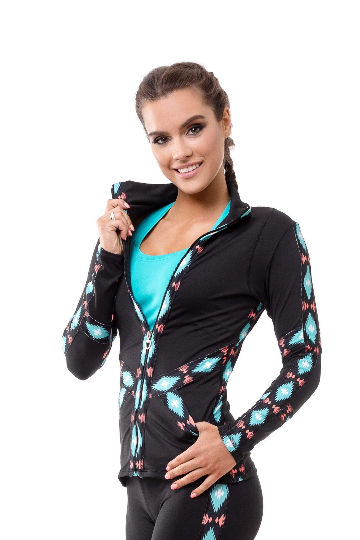 Mexico Zipped Long Sleeve Shirt - BarbellPrincessUsa