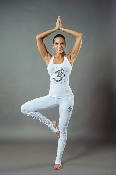 Om Yoga Legging with feet warmer - BarbellPrincessUsa