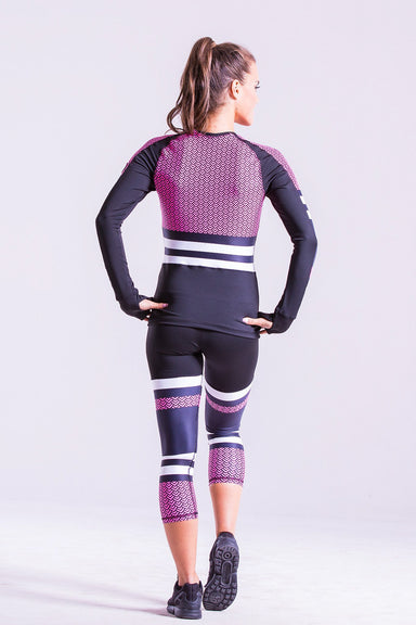 Fitness Long Sleeve Compression effect shirt, Hoodies & Tracksuits, - Indi-Go Style, BarbellPrincess,