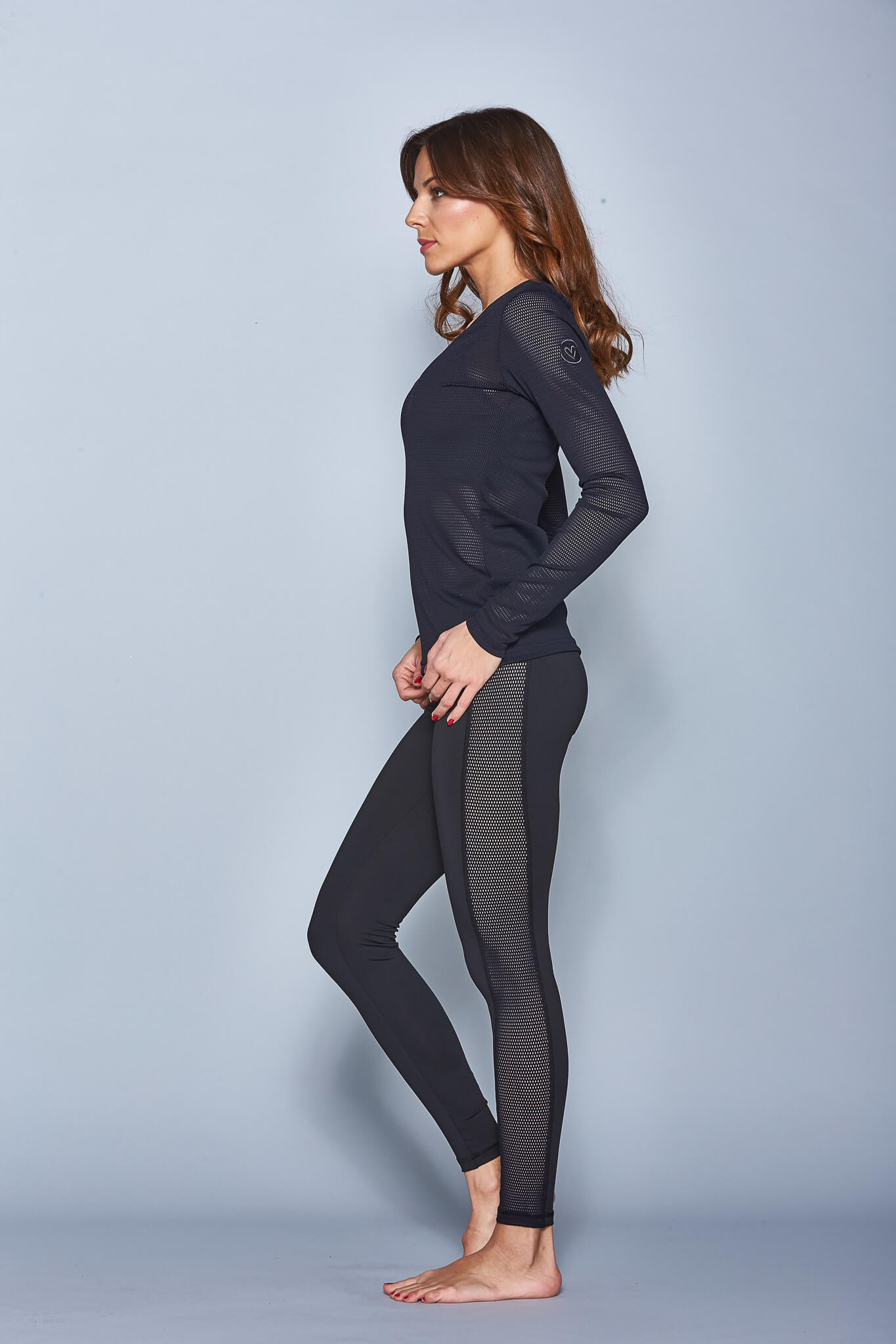 Vichy Long Sleeve Yoga Shirt - BarbellPrincessUsa