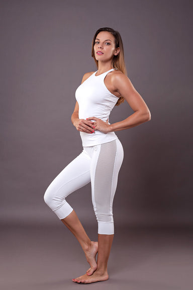 Vichy Cropped Yoga Leggings - BarbellPrincessUsa