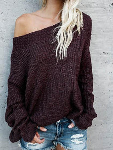 Ruby Off Shoulder Long Sleeve Knit Sweater