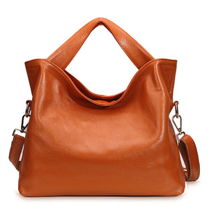 Leather Crossbody Shopper Tote Bag