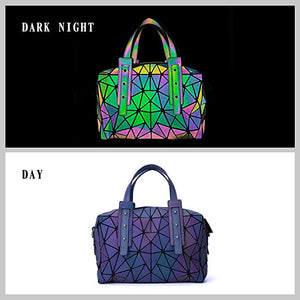 Geometric Holographic Purses Luminous Handbag