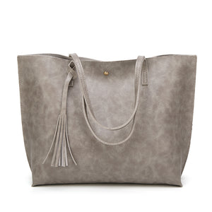 Women's Soft Leather Tote Shoulder Bag