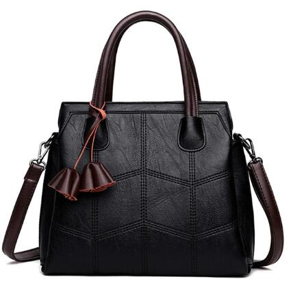First Layer Leather Women Casual Tote Handbag