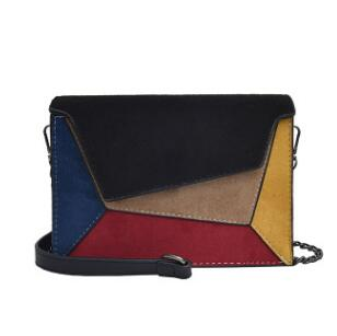 Patch Shoulder Bag With Color Panels