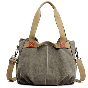 Ladies Casual Vintage Hobo Canvas Daily Purse Top Handle Shoulder Tote Shopper Handbag