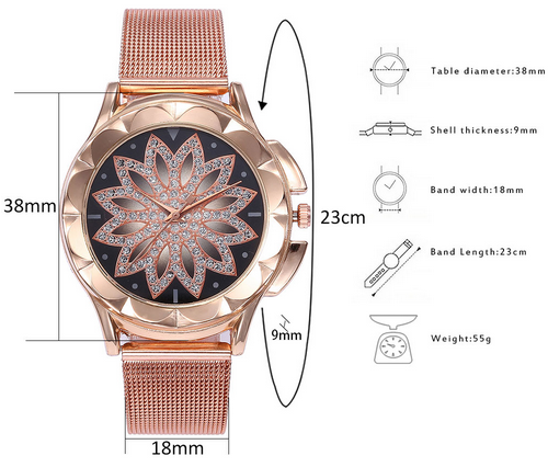Luxury Women Rhinestone Quartz Wrist Watch
