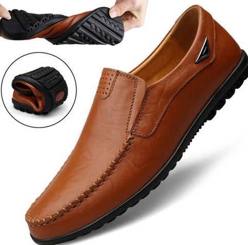 Genuine Leather Men's Casual Shoes Luxury Loafers