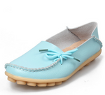 Women Real Leather Shoes Moccasins Mother Loafers