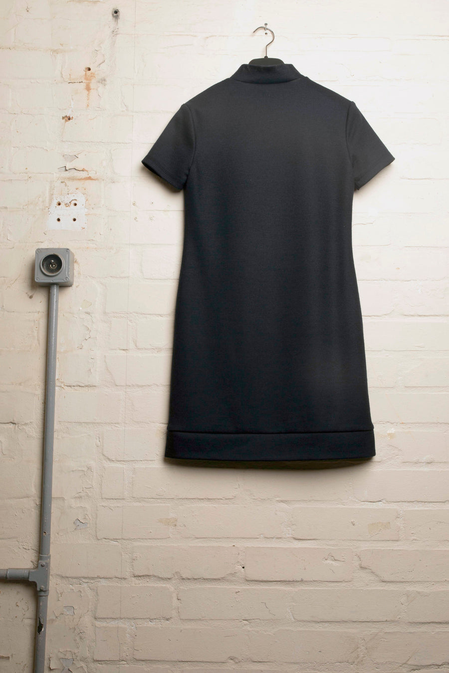 DONNY-WOOL JERSEY LOGO DRESS