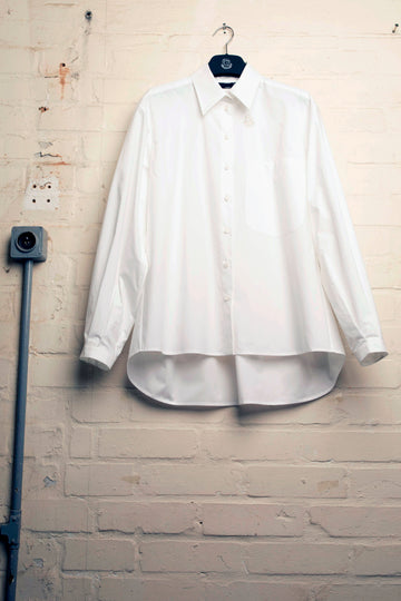 SOBET – BACK GATHERED POPLIN SHIRT