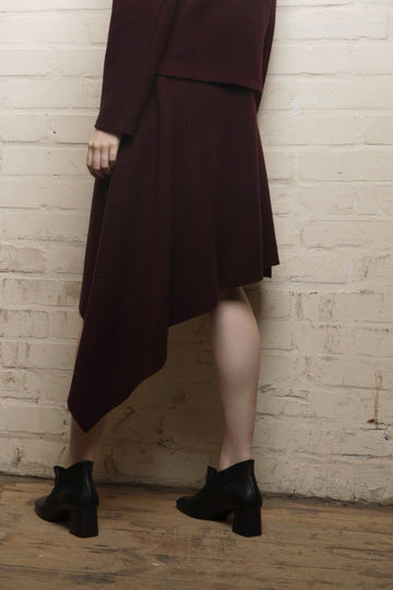 SALLY – DRAPED SQUARE JERSEY SKIRT