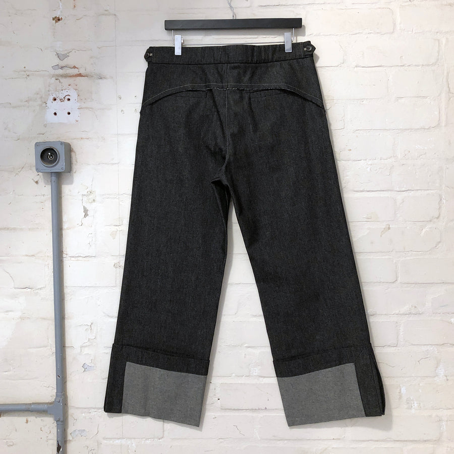 PERCY-BLACK DENIM TROUSER