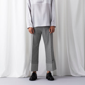 PERCY-PIN STRIPE DENIM TROUSER