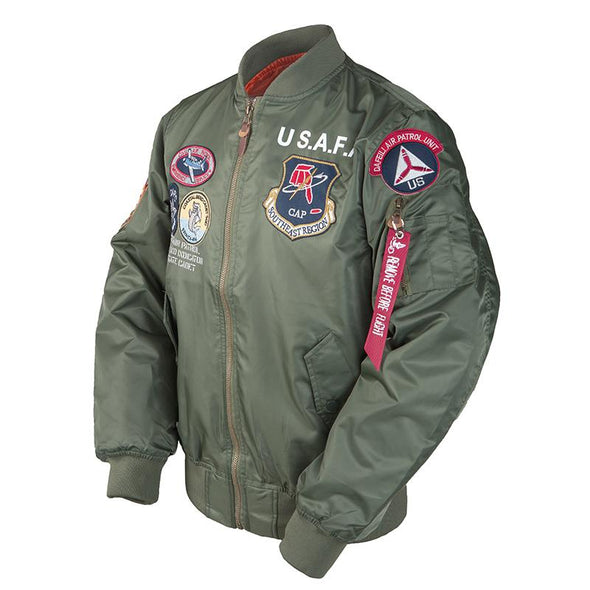 US Airforce Flight Academy Top Gun Bomber Jacket Thin URBAN INFLUX