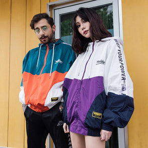 Patchwork Retro Windbreaker URBAN INFLUX