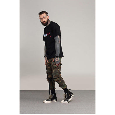 Strapped Camo Joggers URBAN INFLUX