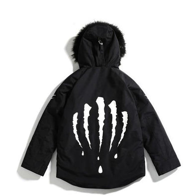 CLAW Faux Fur Jacket URBAN INFLUX Black L