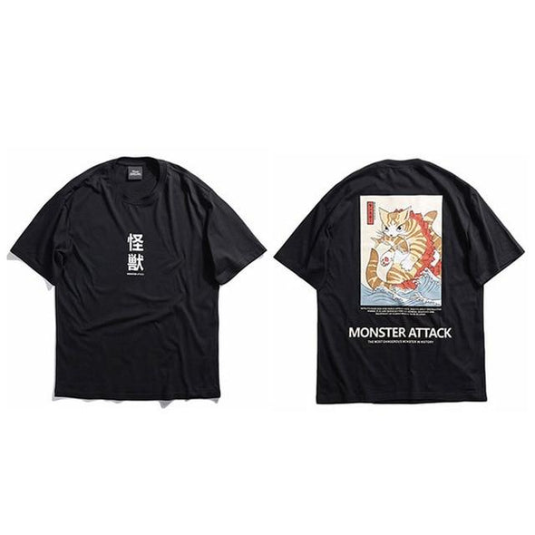 Monster Attack T-Shirt URBAN INFLUX Black L