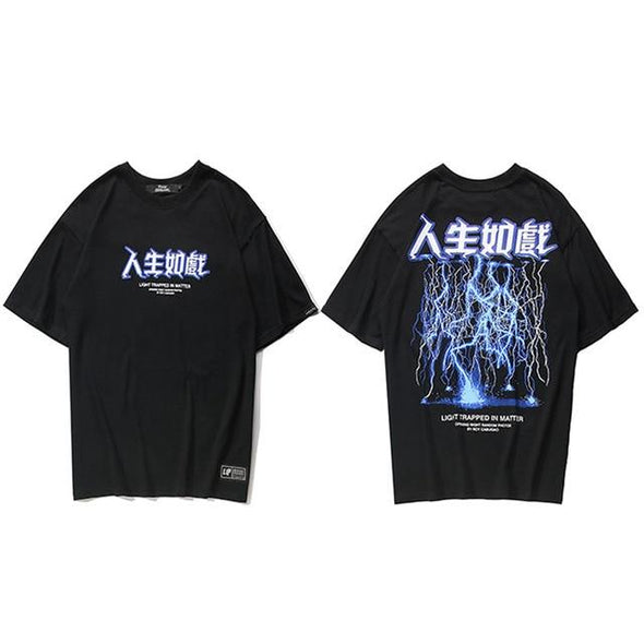 LIGHTNING T-Shirt URBAN INFLUX Black L