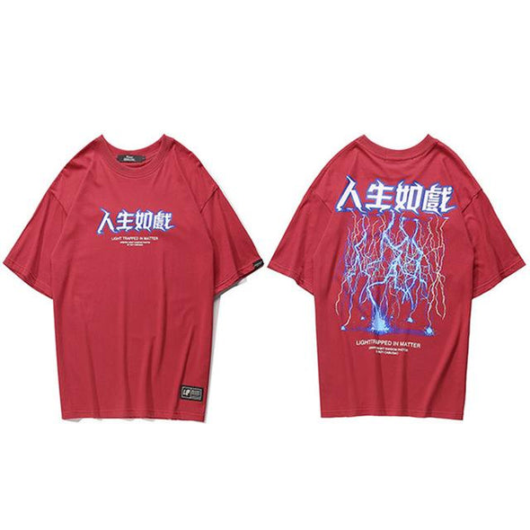LIGHTNING T-Shirt URBAN INFLUX Red L
