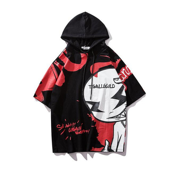 GHOST Sleveless Hoodie URBAN INFLUX Black L