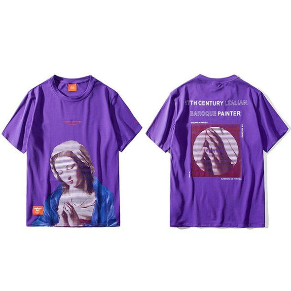MADONNA T-Shirt URBAN INFLUX Purple L