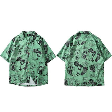 Palm Beach Shirt URBAN INFLUX Green L