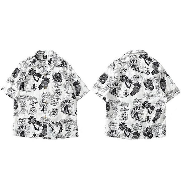 Palm Beach Shirt URBAN INFLUX White L